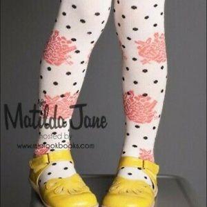 Matilda Jane Cherry Tights Sz S NWOT